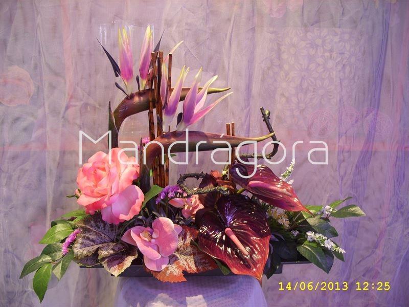 Centro de mesa de flores artificiales - Centro de mesa con flores artificiales ...