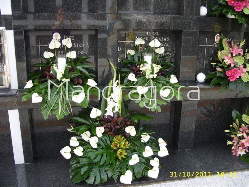 Centros de flores para cementerio - Como hacer centro de flores artificiales ...